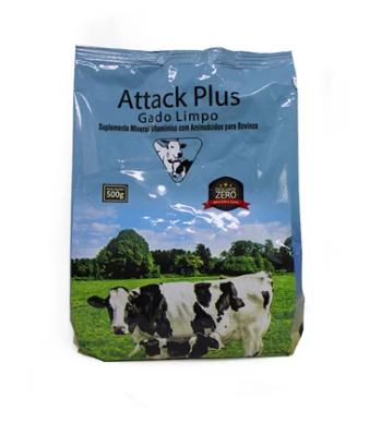 Attack Plus Gado Limpo  Descarte zero - Suplemento  500 gramas - Agronese