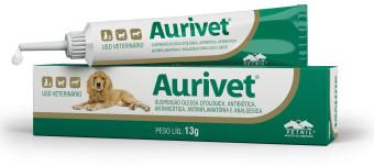 Aurivet 13gr Vetnil Solução Otológic Cães E Gatos Multi-tec