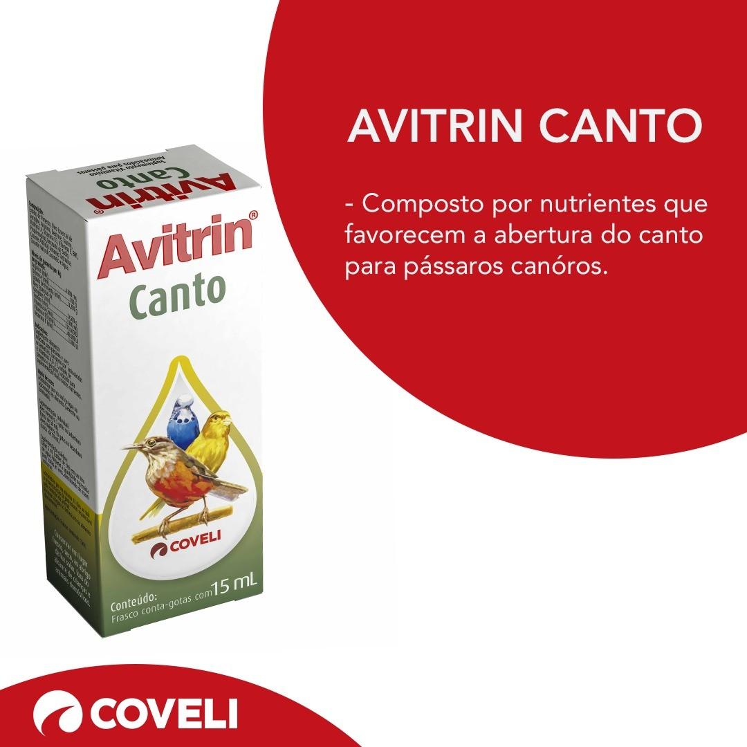Avitrin Canto 15ml Aves Suplemento Vitamínico Coveli
