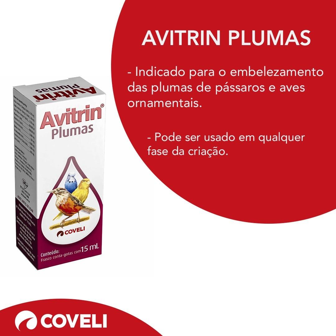 Avitrin Plumas Coveli Para Pássaros 15ml