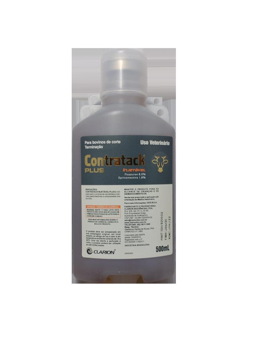 Contratack Plus Injetável – Endectosida – 500ml –Vetoquinol