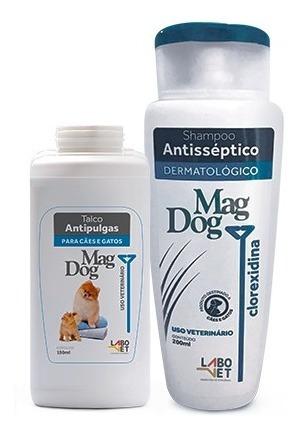 Kit Higiene - Talco E Shampoo P/ Cães E Gatos Mag Dog