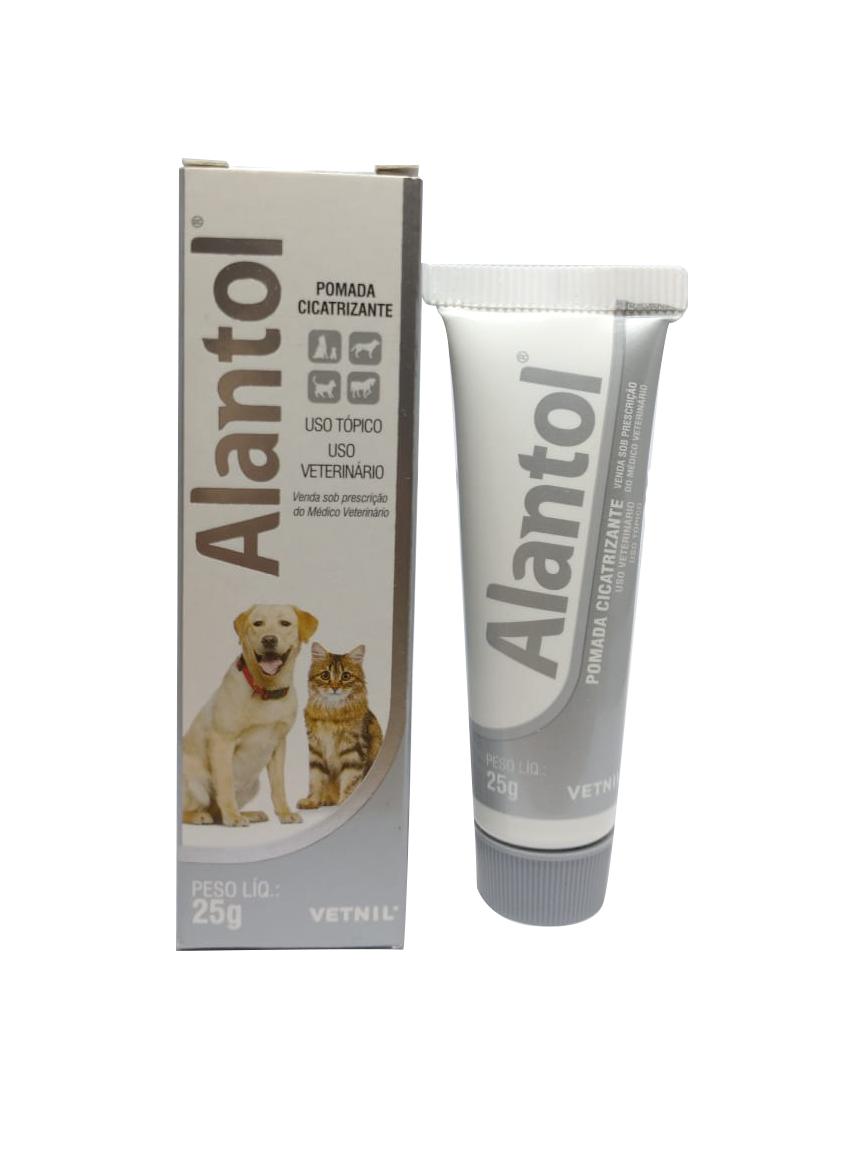 Pomada Alantol Cicatrizante Para Cães Vetnil - 25g