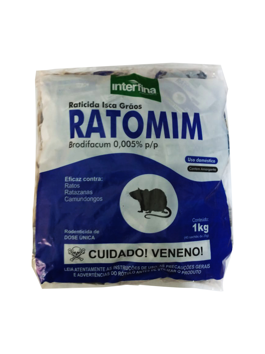 RATOMIM GRÃOS Brodifacum 0,005%