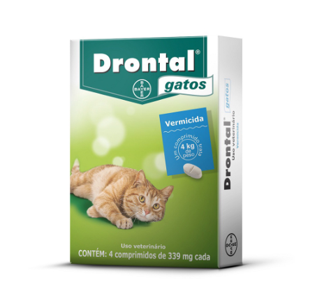 Vermífugo Drontal Gatos - 4 Comprimidos - BAYER