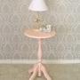 Mesa com Pé Torneado - Branco Fosco