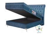 Cama Box Baú + Colchão Magnético Casal Infravermelho Bioquântico (Tamanho 1,38 X 1,88)