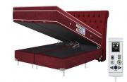 Cama Box Baú + Colchão Magnético Queen Infravermelho Massageador Eco Ozônio (Tamanho 1,58 X 1,98)