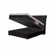 Cama Box Baú + Colchão Magnético Casal Infravermelho Antigermes Linha Luxo (Tamanho 1,38 X 1,88)