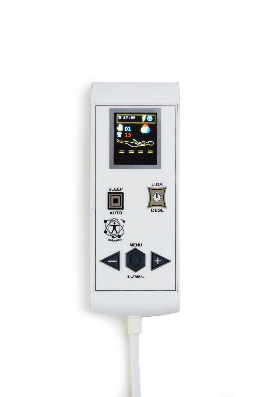 Cama Box Baú + Colchão Magnético King Infravermelho 55 tipos de Massagens Bio quântico (Tamanho 1,93X 2,03)