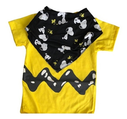 Body Charlie Brown com bandana