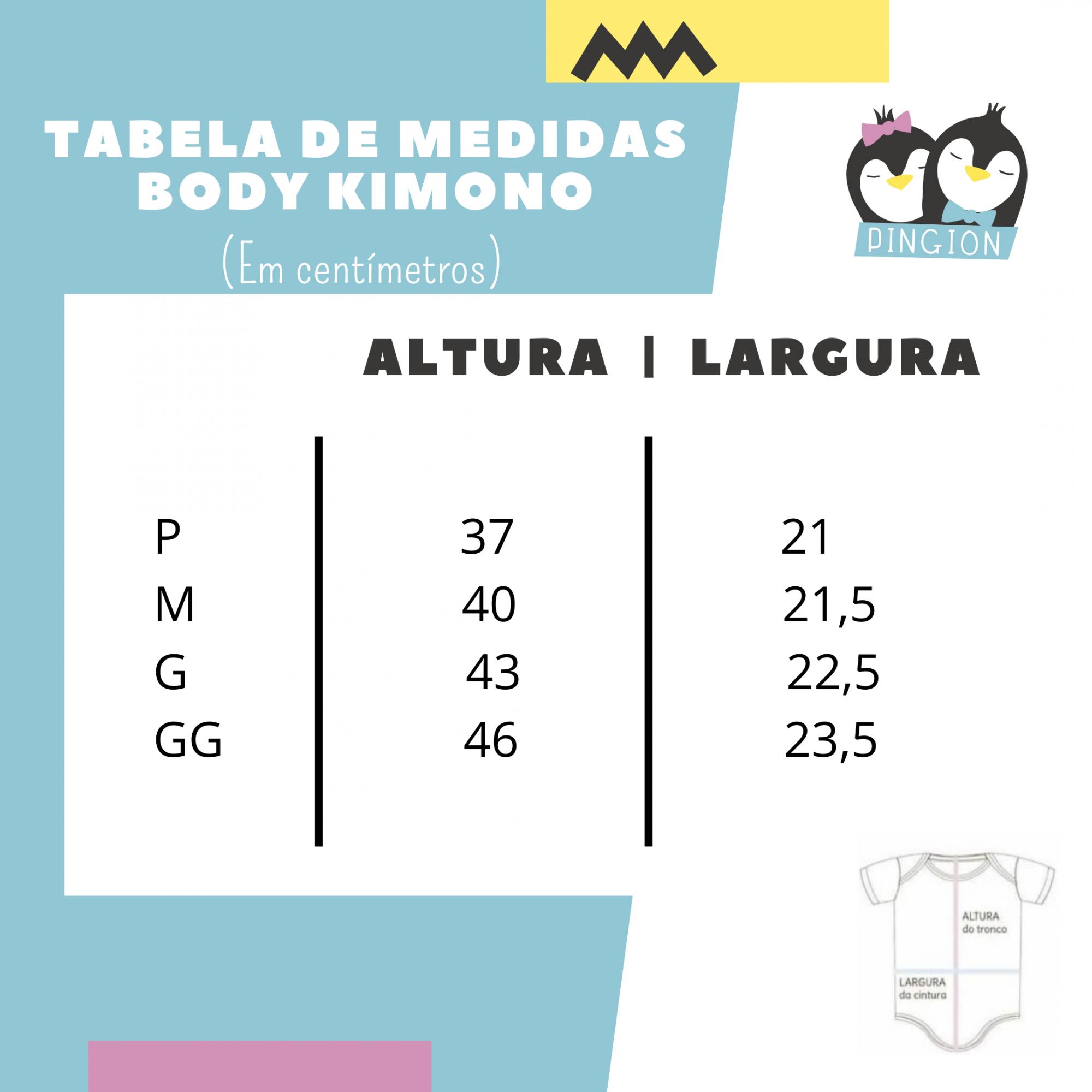 Body kimono rosa