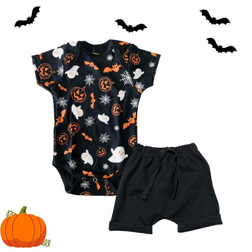 Look Halloween com bermuda
