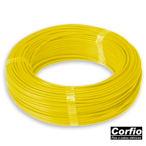 Fio Flexivel Corfio Amarelo 2,5mm (RL 100Mts)