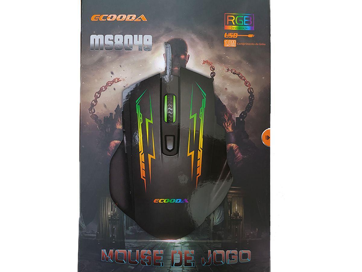 Mouse GAMER ECOODA MS8049 USB RGB 1600/2400/3200 DPI