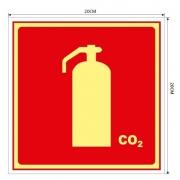 Placa Extintor de Incêndio de CO2 – E5C