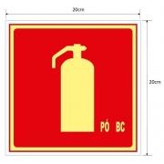Placa Extintor de Incêndio de Pó Químico BC – E5BC