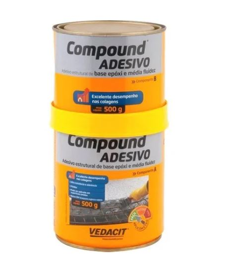 Adesivo Cola Concreto Trinca Epoxi 1kg Compound Vedacit