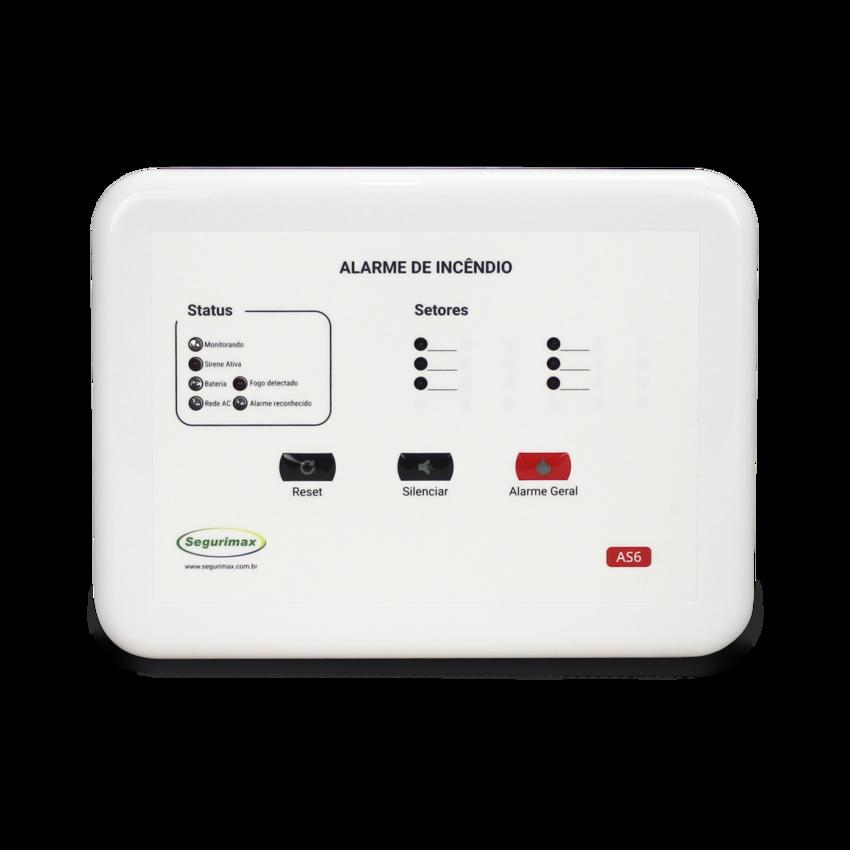 Central de Alarme de Incêndio Convencional 12V com Bateria Inclusa