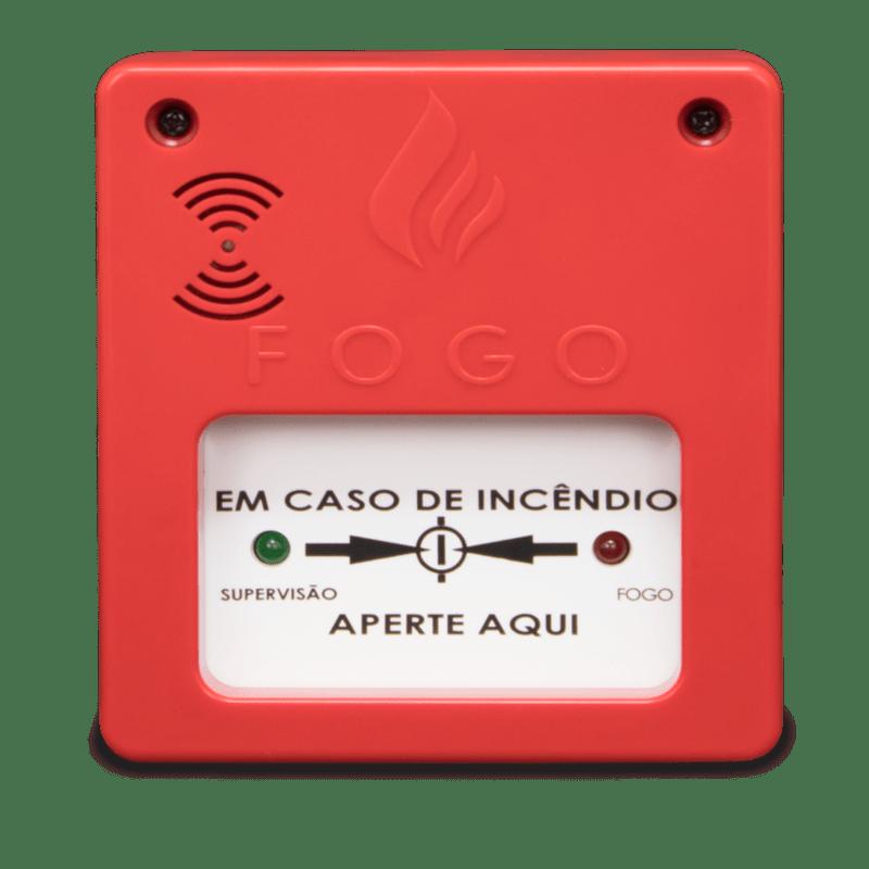 Acionador manual com sirene 12V/24V Convencional