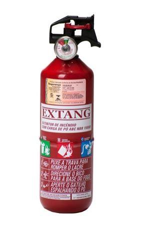 """Extintor Automotivo PQS 1 kg ABC 3 1/2 """" - Validade de 5 Anos"""