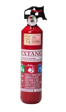 """Extintor Automotivo PQS 1 kg ABC 3 """" - Validade de 5 Anos"""