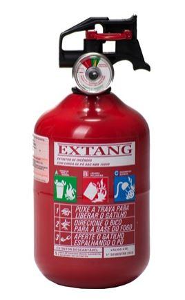 """Extintor Automotivo PQS 1 kg ABC 4 """" - Validade de 5 Anos"""