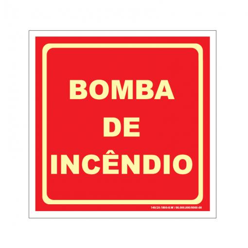 Placa de Bomba de Incêndio - BI