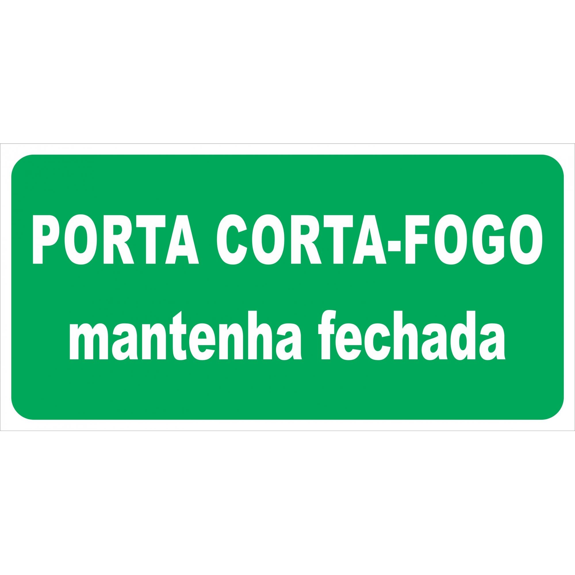 Placa de Porta Corta Fogo - M 4