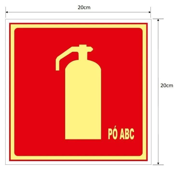 Placa Extintor de Incêndio de Pó Químico ABC – E5ABC