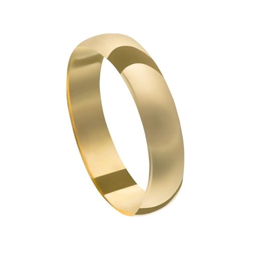 Aliança Casamento Ouro 18K Tradicional Unidade 4,90mm x0,45mm