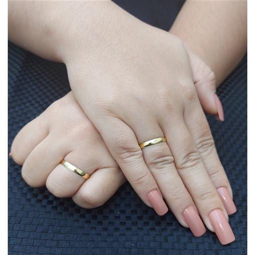 Aliança Casamento Ouro 18k Tradicional Unidade 2,90mm x0,70mm