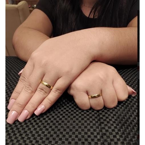 Aliança Casamento Ouro 18k  Tradicional Unidade 3,50mm x0,55mm