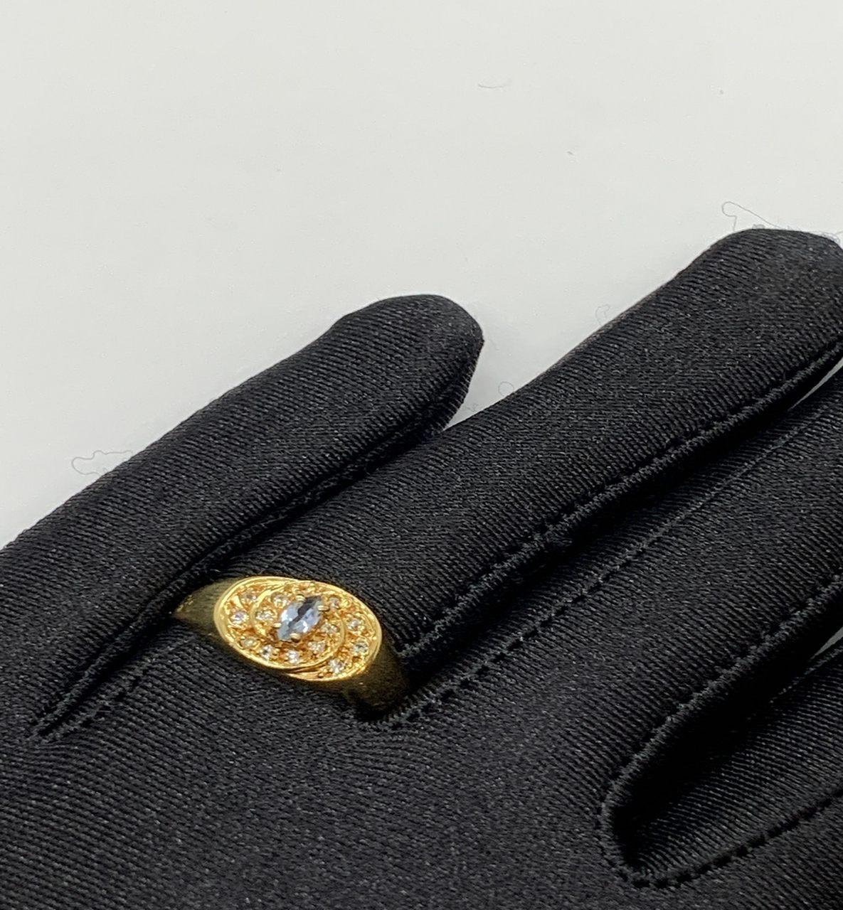 Anel De Formatura Ouro 18k c/ Zircônia Jjoias Premium