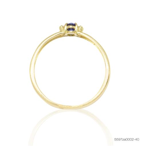 Anel de Ouro 18k Duplo com Pedra Jjoias Premium