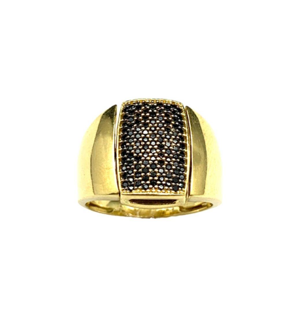 Anel Ouro 18k Giratório com Brilhante Jjoias Premium