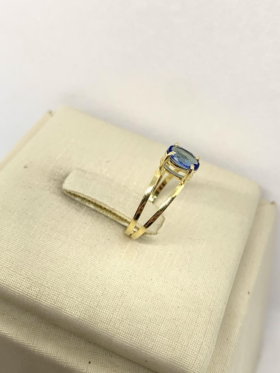 Anel Ouro 18k Pedra Oval Jjoias Premium