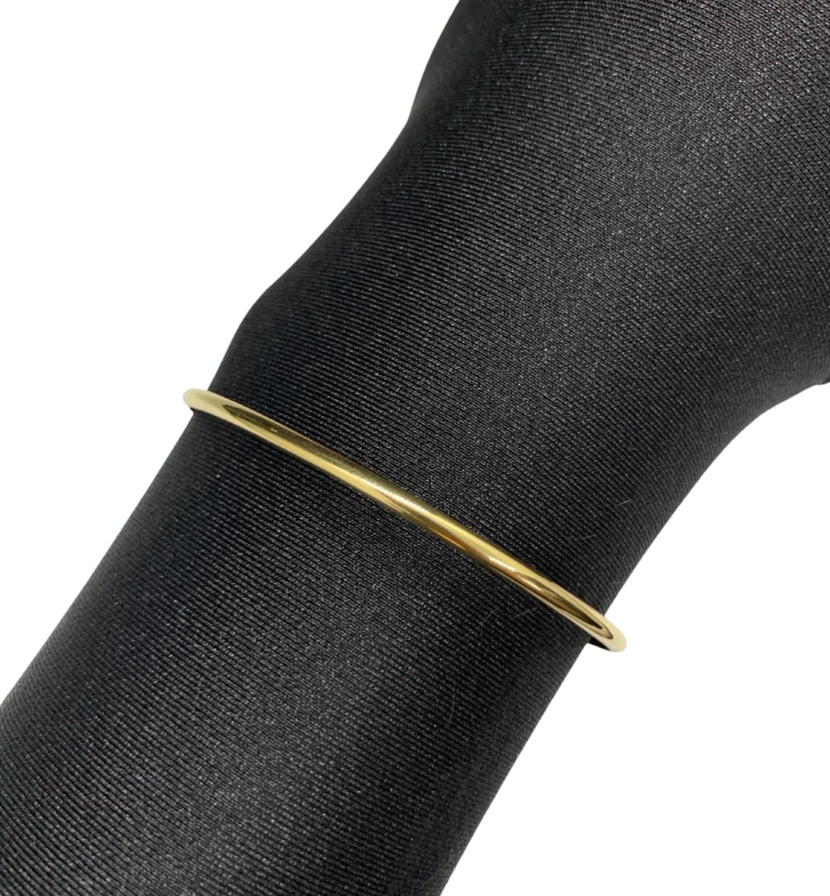 Bracelete Ouro 18k Liso