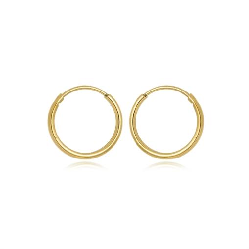 Brinco Argola de Ouro 18k  Dourado