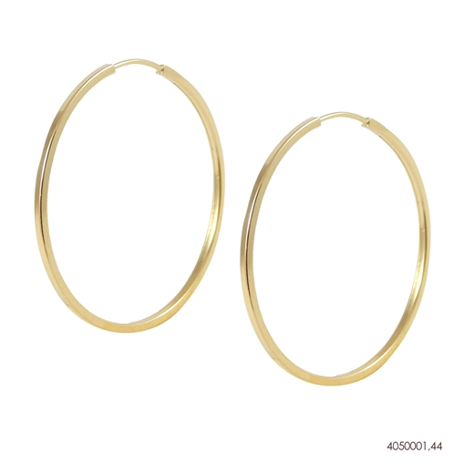 Brinco Argola Dourado Ouro 18K 4mmX4mm