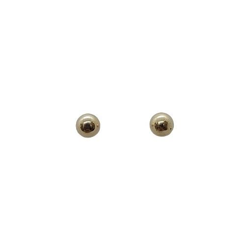 Brinco de Ouro 18k Bola com Base Antialérgica 4mm