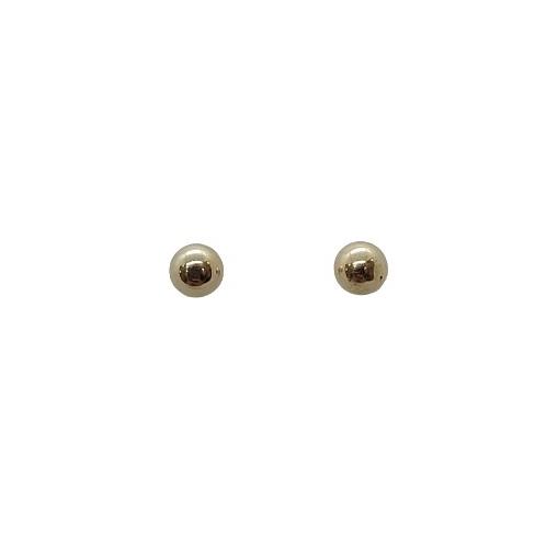 Brinco de Ouro 18k Bola com Base Antialérgica 5mm