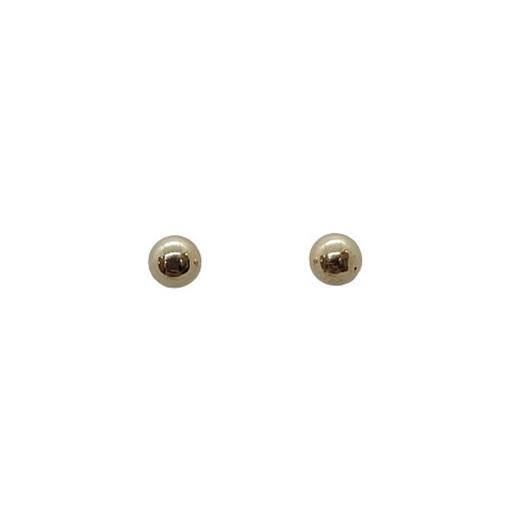 Brinco de Ouro 18k Bola com Base Antialérgico 3mm
