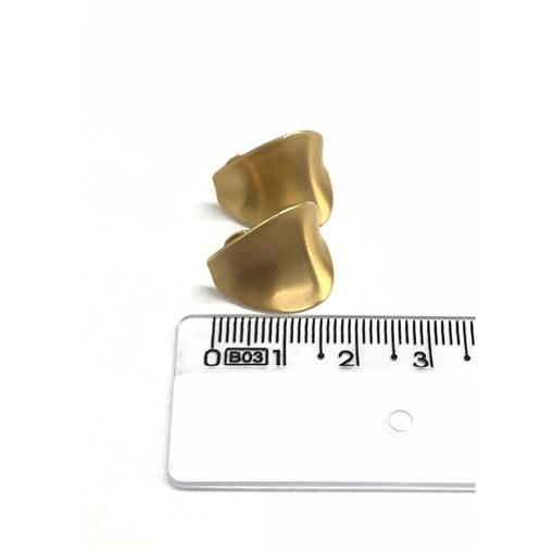 Brinco de Ouro 18k Trabalhado Concavo