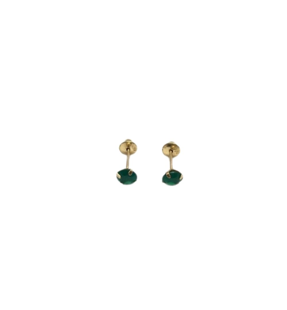 Brinco Infantil Ouro 18K  Verde  BR423ES000-41