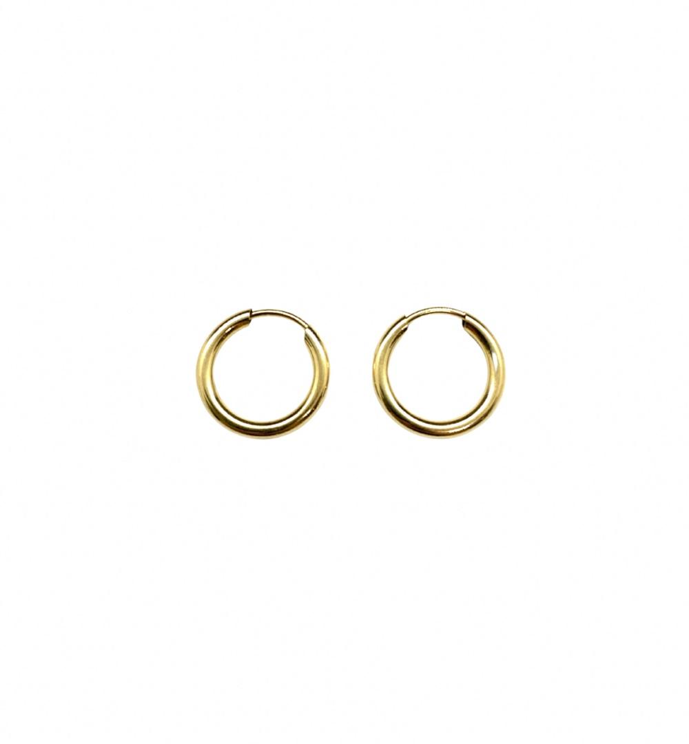 Brinco Ouro 18k Argola Lisa Jjoias Premium