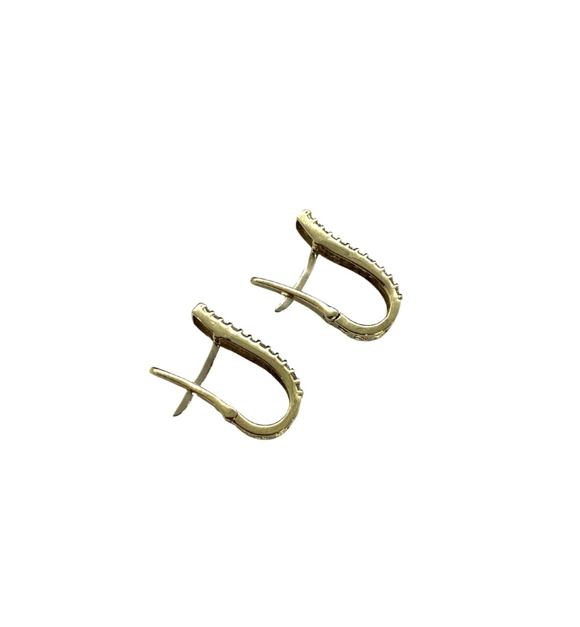 Brinco Ouro 18K Cravejado Com Brilhante Jjoias Premium