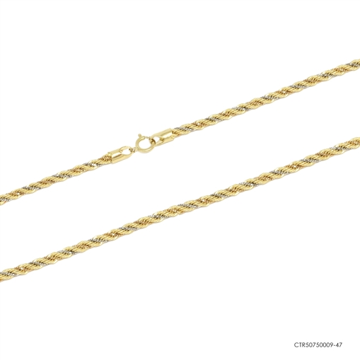 Corrente Cordão Baiano 18k 3 Ouros