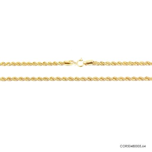 Corrente Cordão Baiano Ouro 18K  50cm