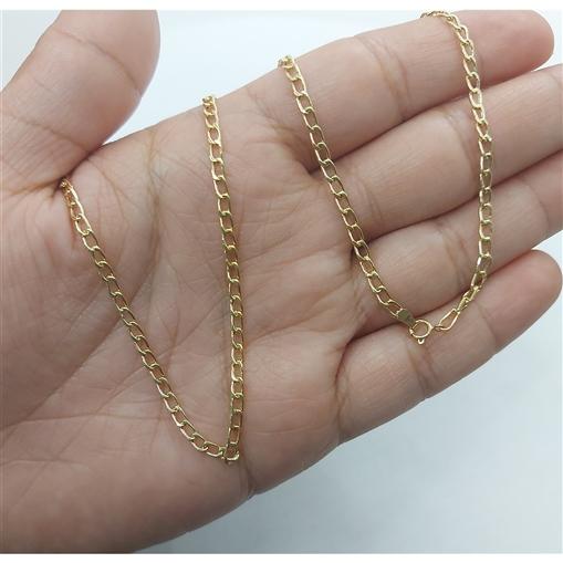Corrente Groumet Masculina Ouro 18K 60 cm